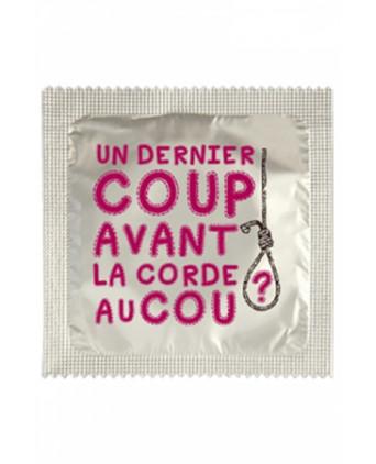 Préservatif humour - Un Dernier Coup - Préservatifs humoristiques