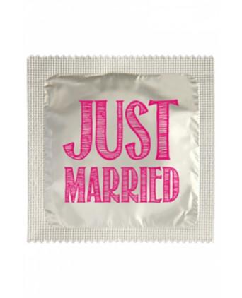 Préservatif humour - Just Married - Préservatifs humoristiques