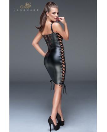 Minirobe dentelle et rubans F146 - Robes sexy