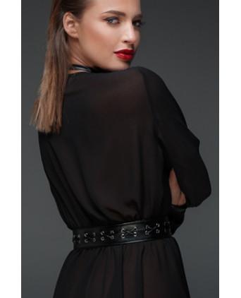 Minirobe choker en mousseline F150 - Robes sexy