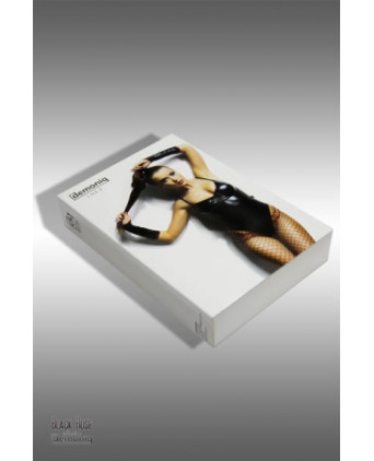 Body Inez et gants - Black Rose - Lingerie vinyle femme