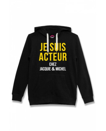 Sweat à capuche J&M Acteur noir - Sweats J&M