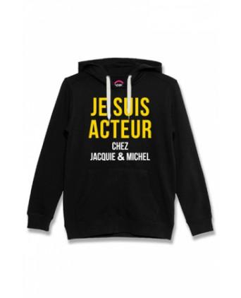 Sweat à capuche Jacquie et Michel Acteur - noir - Sweats Homme