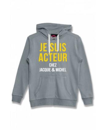 Sweat à capuche Jacquie et Michel Acteur - gris - Sweats Homme