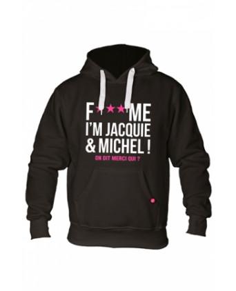 Sweat à capuche Jacquie et Michel Fuck Me - noir - Sweats Homme
