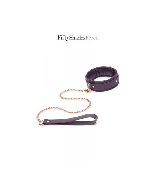 Collier et laisse cuir - Fifty Shades Freed - Attaches, contraintes